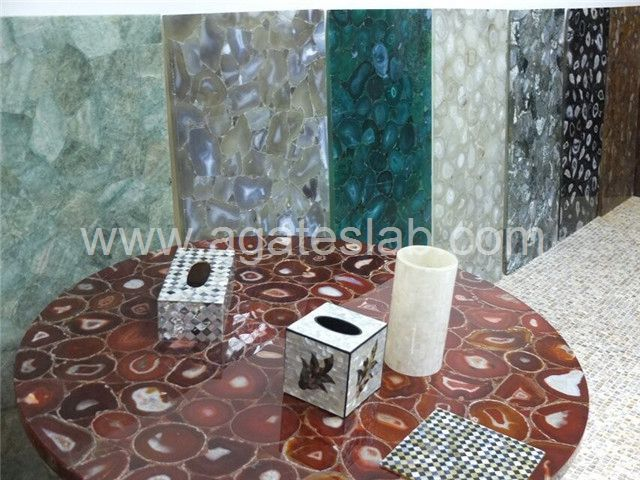 Agate stone table top (2)