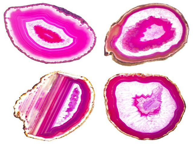 Pink agate coaster (3)