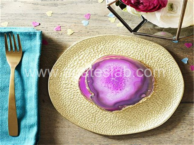 Pink agate coaster (9)